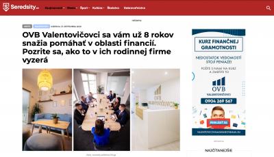 Napísali o nás na Seredsity.sk
