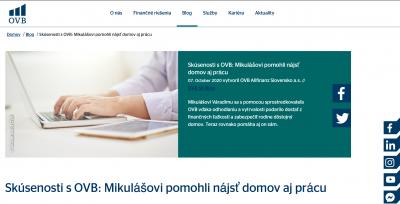 Napísali o nás na OVB.sk